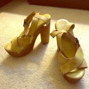 Bed Stu platform leather sandal